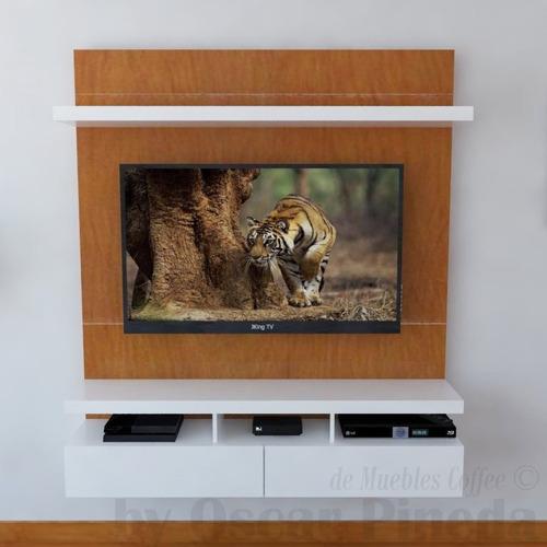 mueble tv ref mural51  lacado con panel ocultar cables