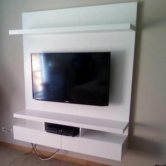Mueble Tv Ref Mural51 Ocultar Cables Lacado Poliuretano