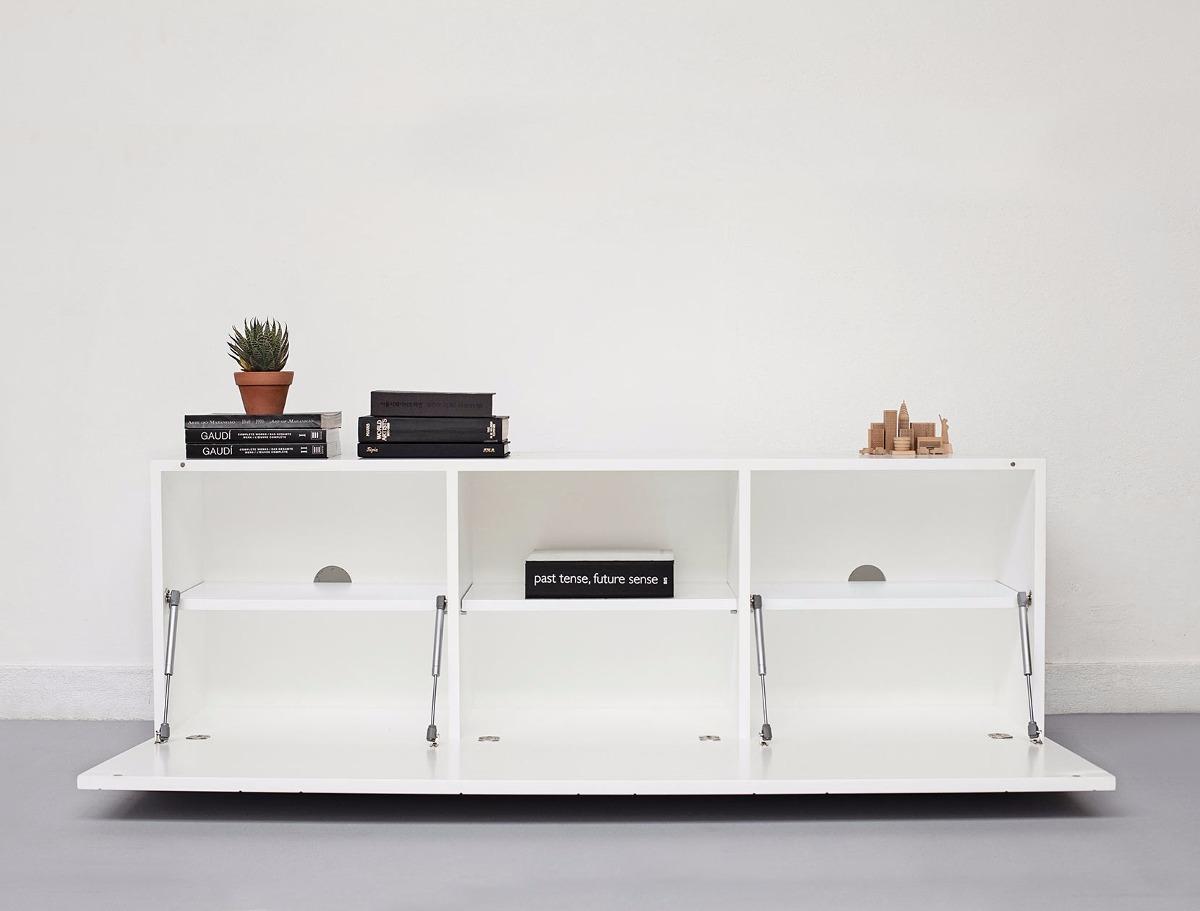 Mueble Tv Y Guardado Minimalista Laqueado Madera Kasadesign  # Muebles Kasa Design