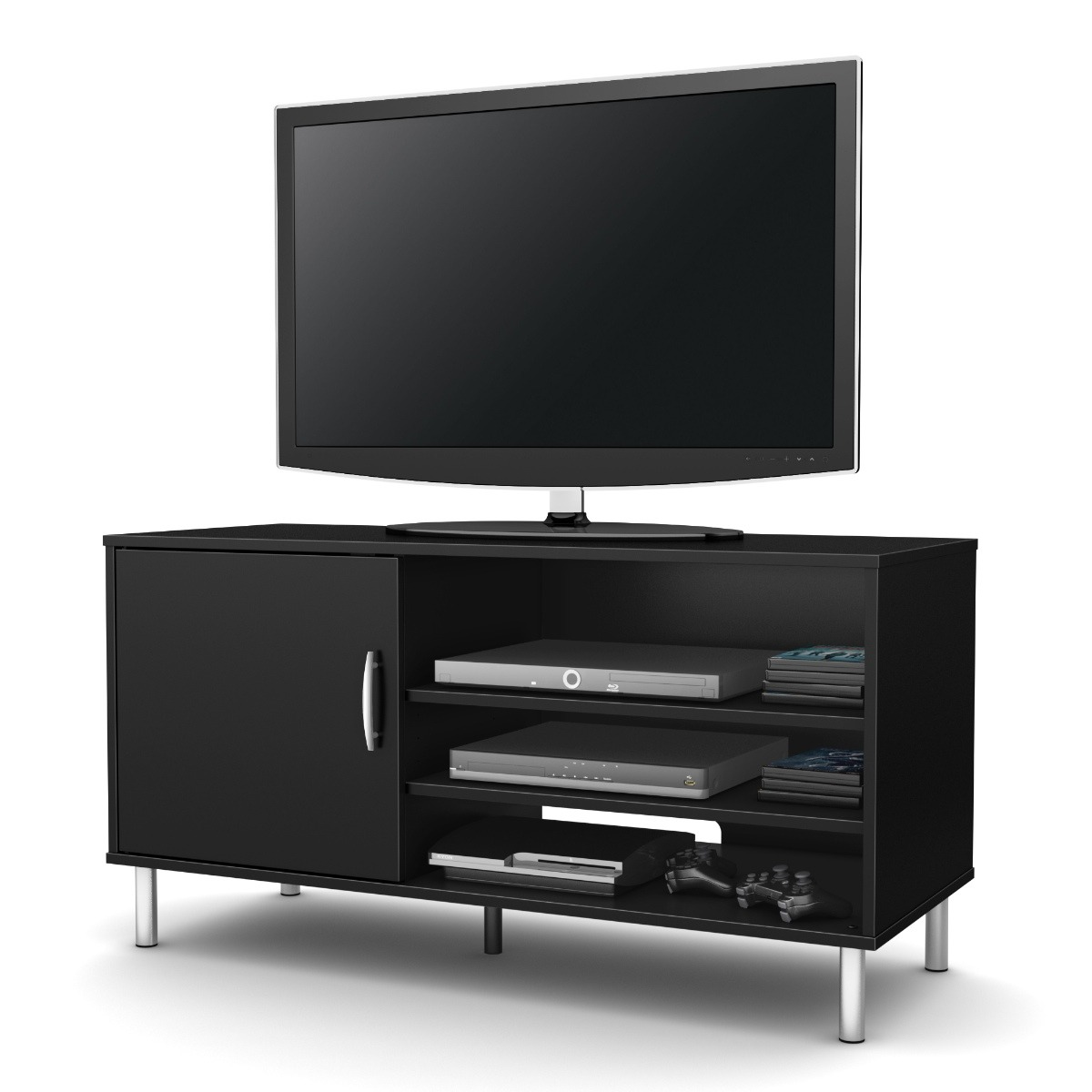 Mueble tv y multimedia moderno color negro pc9ng 2 799 - Mueble tv negro ...