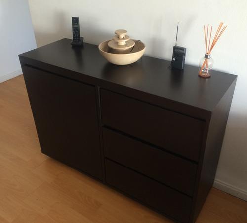 mueble vajillero living cajones + puerta guatambu lustrado