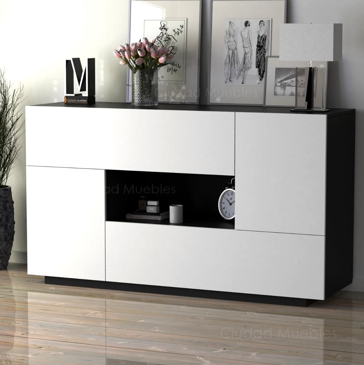 Mueble Vajillero Moderno Comedor 140cm De Largo Oferta  # Muebles Vajilleros Para Comedor