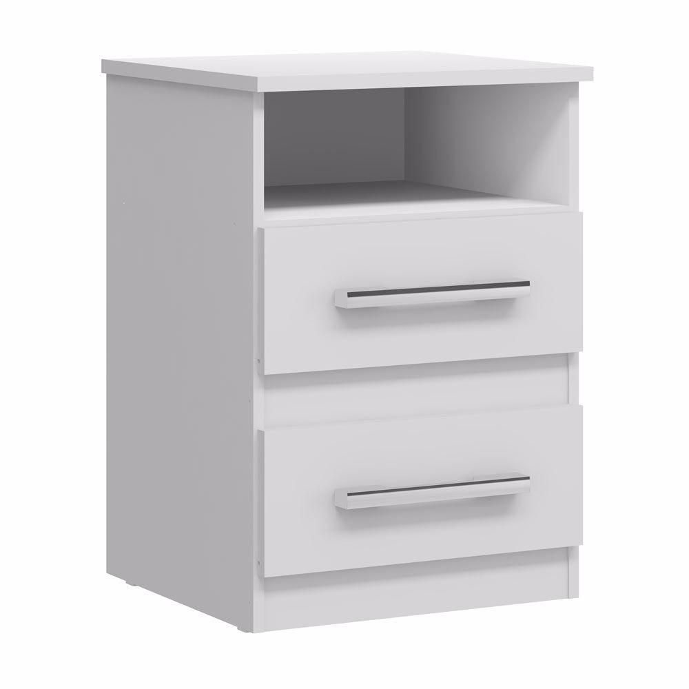 Mueble Velador 2 Cajones Blanco O Tabaco Muebles Metinca  # Muebles Metinca