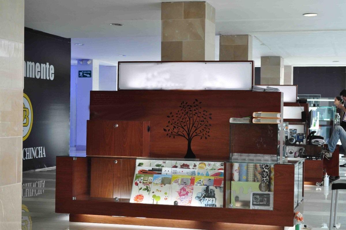 Mueble vitrina estantes tipo isla para centro comercial for Muebles de cocina tipo isla