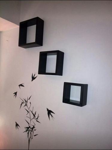 mueble y decoración repisa cubo flotante minimalista 15x15cm