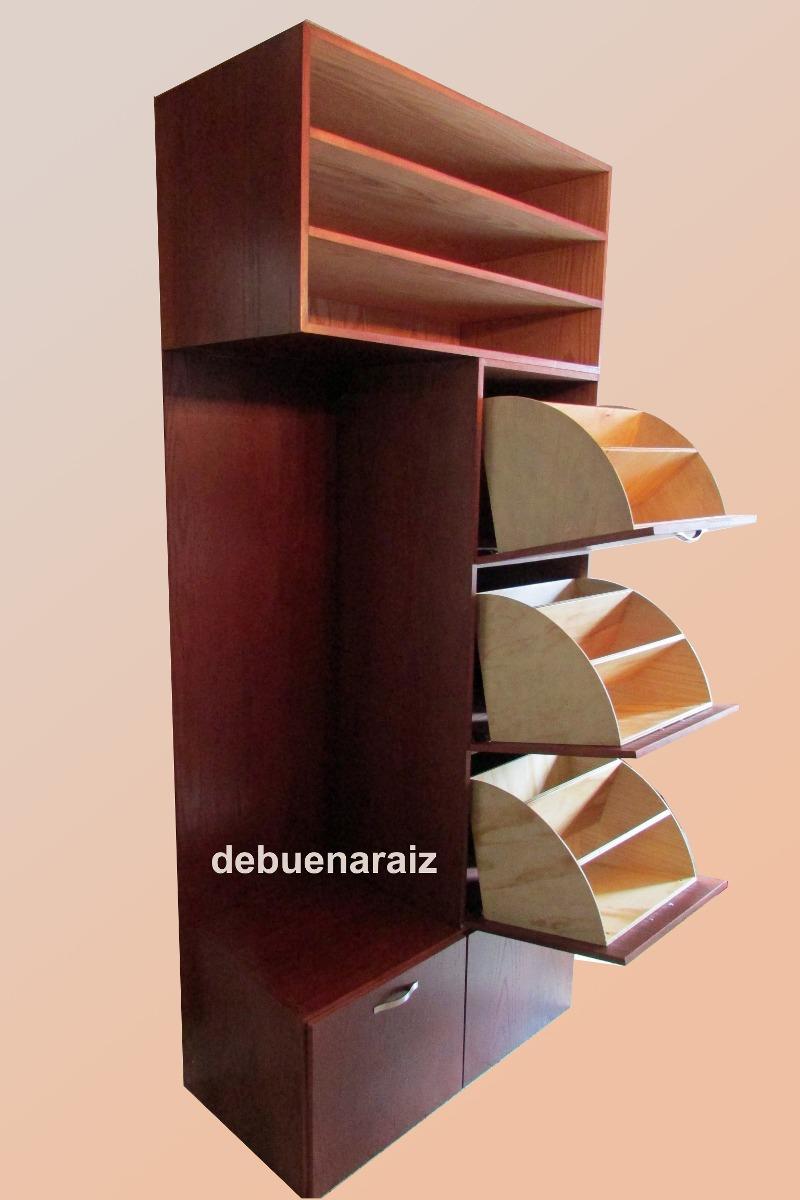 Mueble zapatera minimalista madera recamara cajonera for Disenos de zapateros en madera