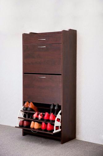 mueble zapatero para 27 pares 100% madera / el container