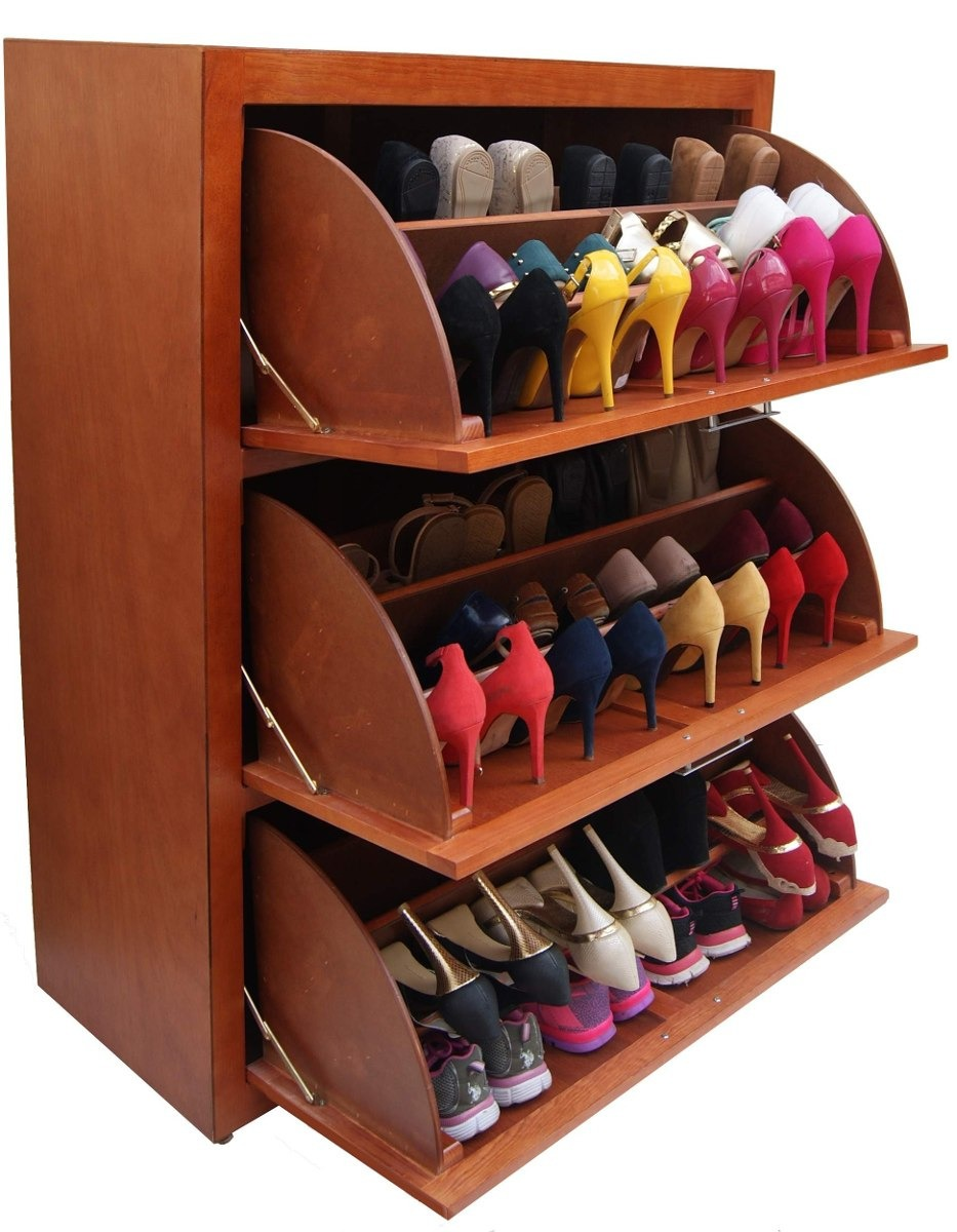 Mueble zapatero para 36 pares muy practica color a for Zapateros de madera de pino