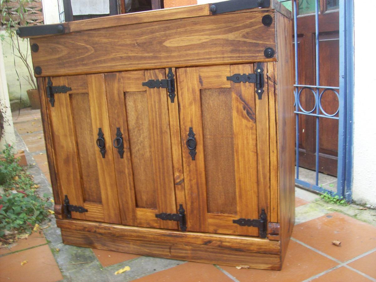 Mueble aparador p comedor 3 puertas r stico artesanal - Herrajes rusticos para puertas ...