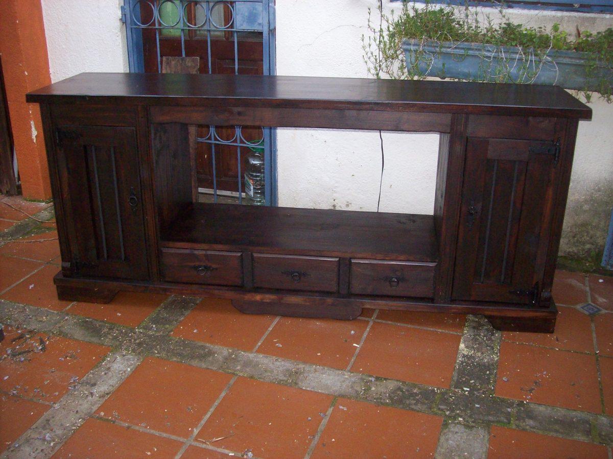Mueble bajo mesada de ba o rustico madera maciza sin bacha - Mueble de bano rustico ...
