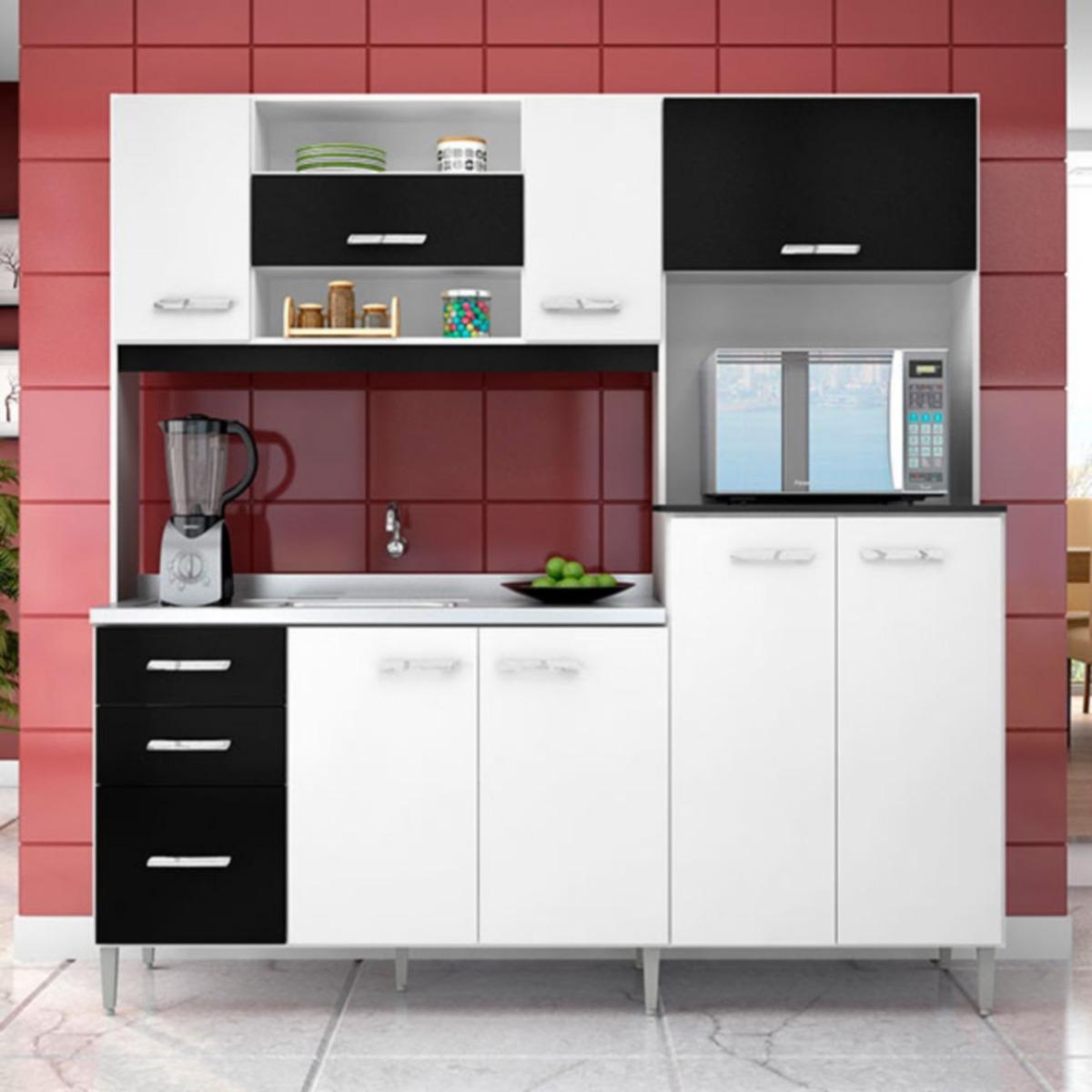 Muebles 2020 Cocina Integral 1.77 Metros Mirela Blanco/ - $ 1.795 ...