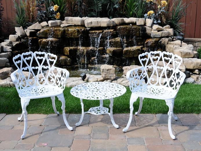 Muebles 2sillas y mesa auxiliar para exterior jardin for Mesas y sillas de jardin en el corte ingles