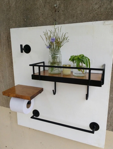 muebles a medida de hierro y madera