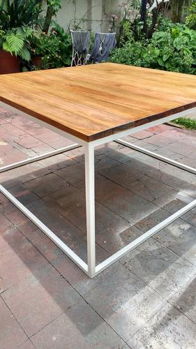 muebles a medida, hierro y madera, estilo industrial