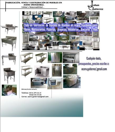 muebles acero inoxidable, mesas, fregaderos, lavamanos