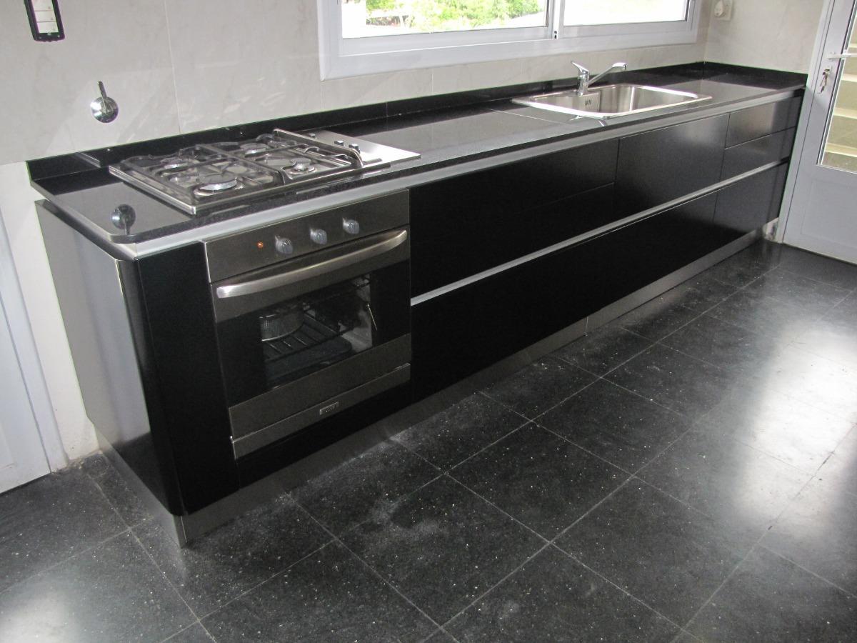 Muebles Amoblamiento Cocina Laqueados Y Acero Inox Alta Gama -interiores  Acero Inox -herrajes -kesseböhmer, Grass, Blum