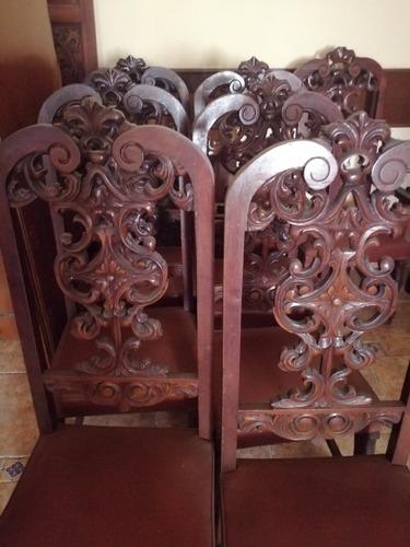 muebles antiguos de madera tallados a mano