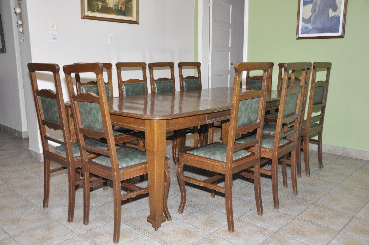 Muebles Antiguos: Juego Comedor Clásico Roble + 12 Sillas - $ 69.900 ...