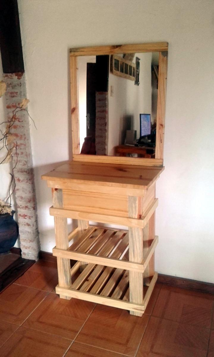 Muebles ba o r stico madera espejo opcional decoformas en mercado libre - Muebles rusticos bano ...