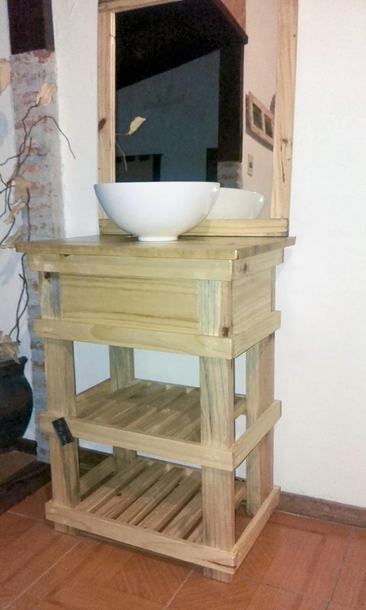 Muebles ba o r stico madera espejo opcional decoformas - Todo muebles de bano ...