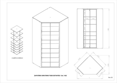 muebles botineros zapateros esquinero multiuso giratorio +