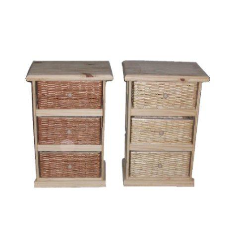 Muebles Cajoneras Ordenadores De Pino Y Mimbre - $ 990,00 en Mercado ...