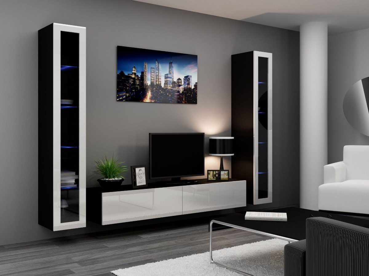 Muebles centro entretenimiento oferta envio y armado for Muebles de sala de entretenimiento