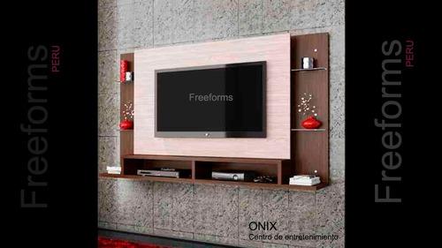 muebles centro entretenimiento rack tv mod onix gratis e e i