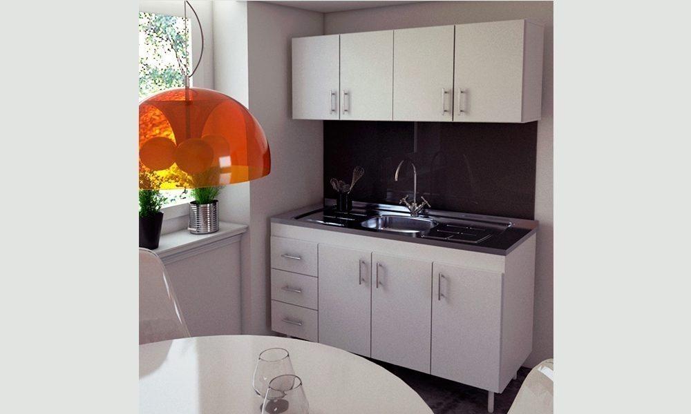 Muebles Cocina Alacena 1,4m Color Blanco O Chocolate Mosconi ...