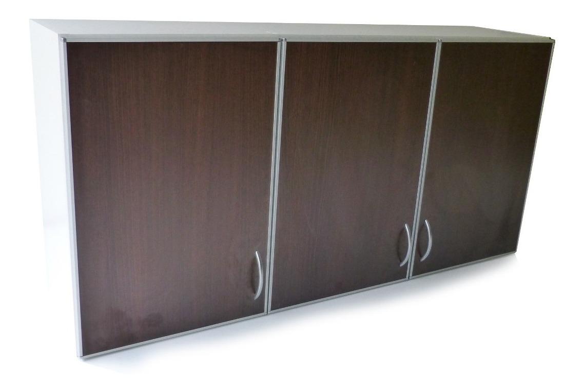 Muebles Cocina Alacena Melamina 18 Borde Aluminio 1,4 M High