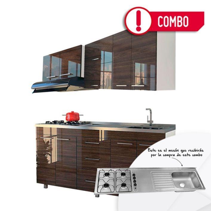 Dorable Muebles De Cocina Brillantes Bandera - Ideas de Decoración ...