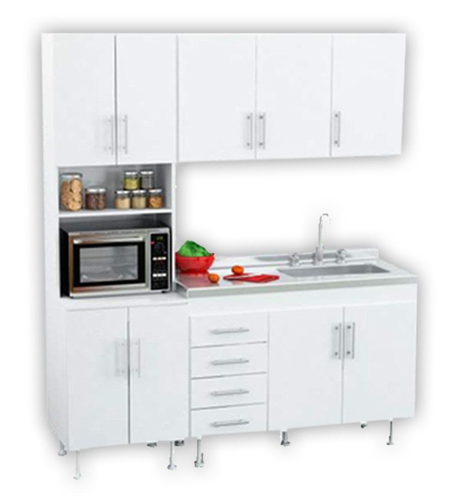 Muebles Cocina Completo Bajo Mesada Bacha Alacena 120 1.20 - $ 3.874 ...