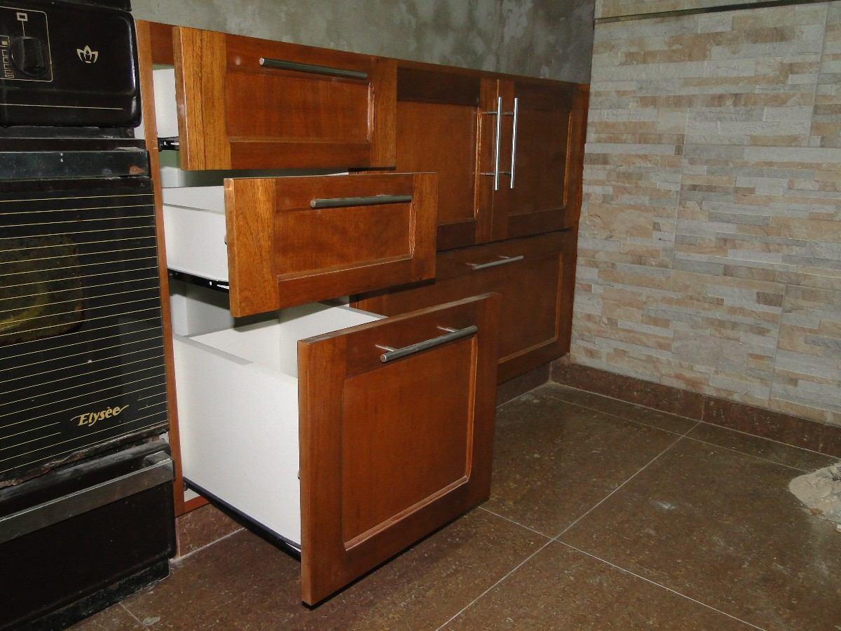 Mueble de cocina de madera affordable muebles de cocina for Muebles de cocina x metro lineal