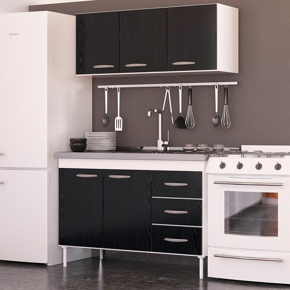 Muebles Cocina Melamina 140 Bajo Mesada Alacena Blanco Envio