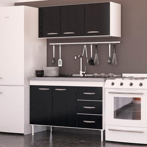 Muebles Cocina Melamina 140 Bajo Mesada Alacena Blanco Envio ...