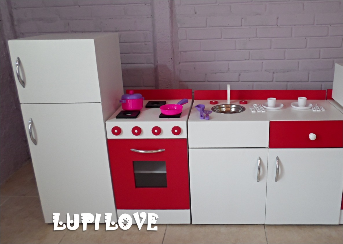 Muebles Cocina Mesada Juego Infantil Casita Madera Juguete  # Muebles Infantiles Lupi Love