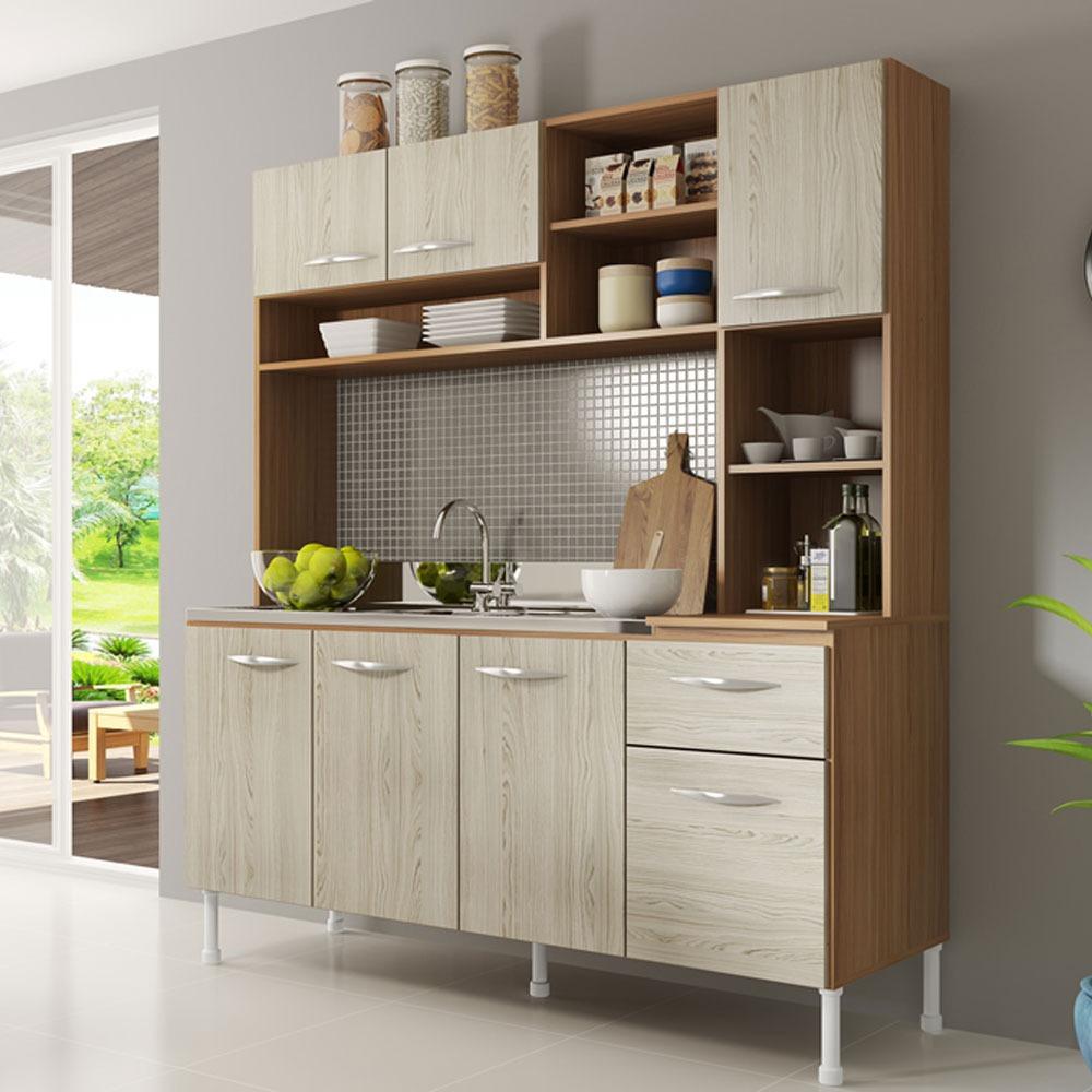 Muebles Cocina Vintage Bajomesada Alacena Despensero Kit 160 ...
