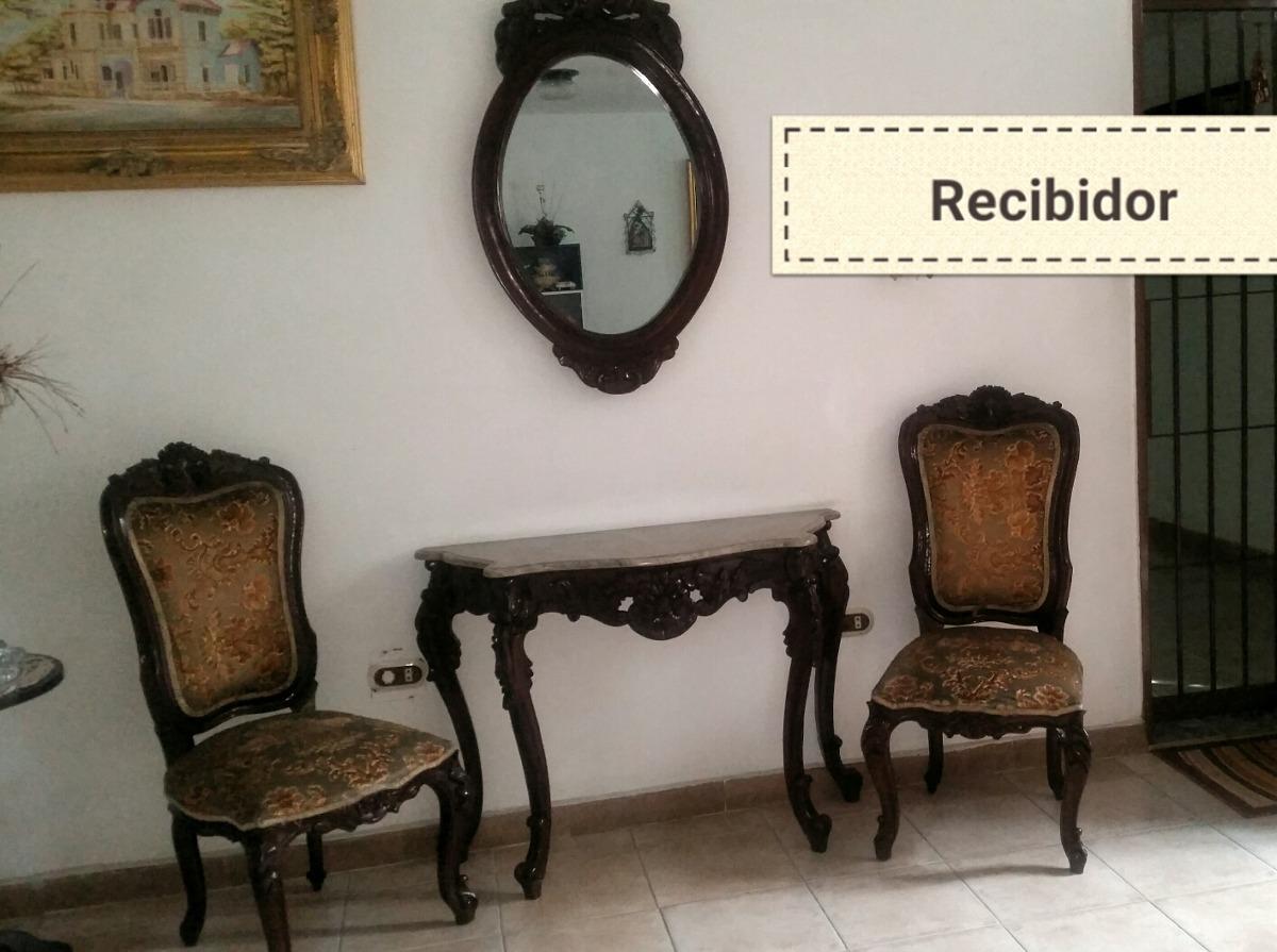 Muebles Combo Sala, Comedor Vitrina Y Luis Xv Tope Marmol - Bs ...