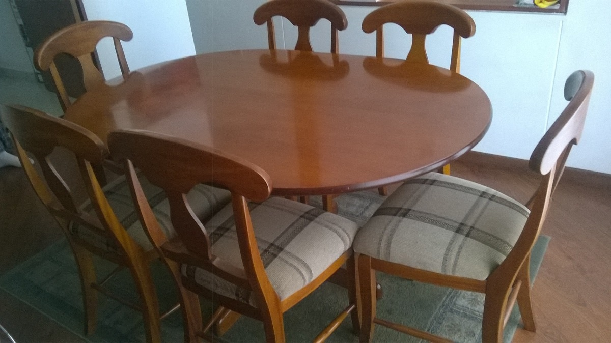 Muebles Comedor 6 Puestos En Madera, De Muebles Y Accesorios - $ 1.300.000