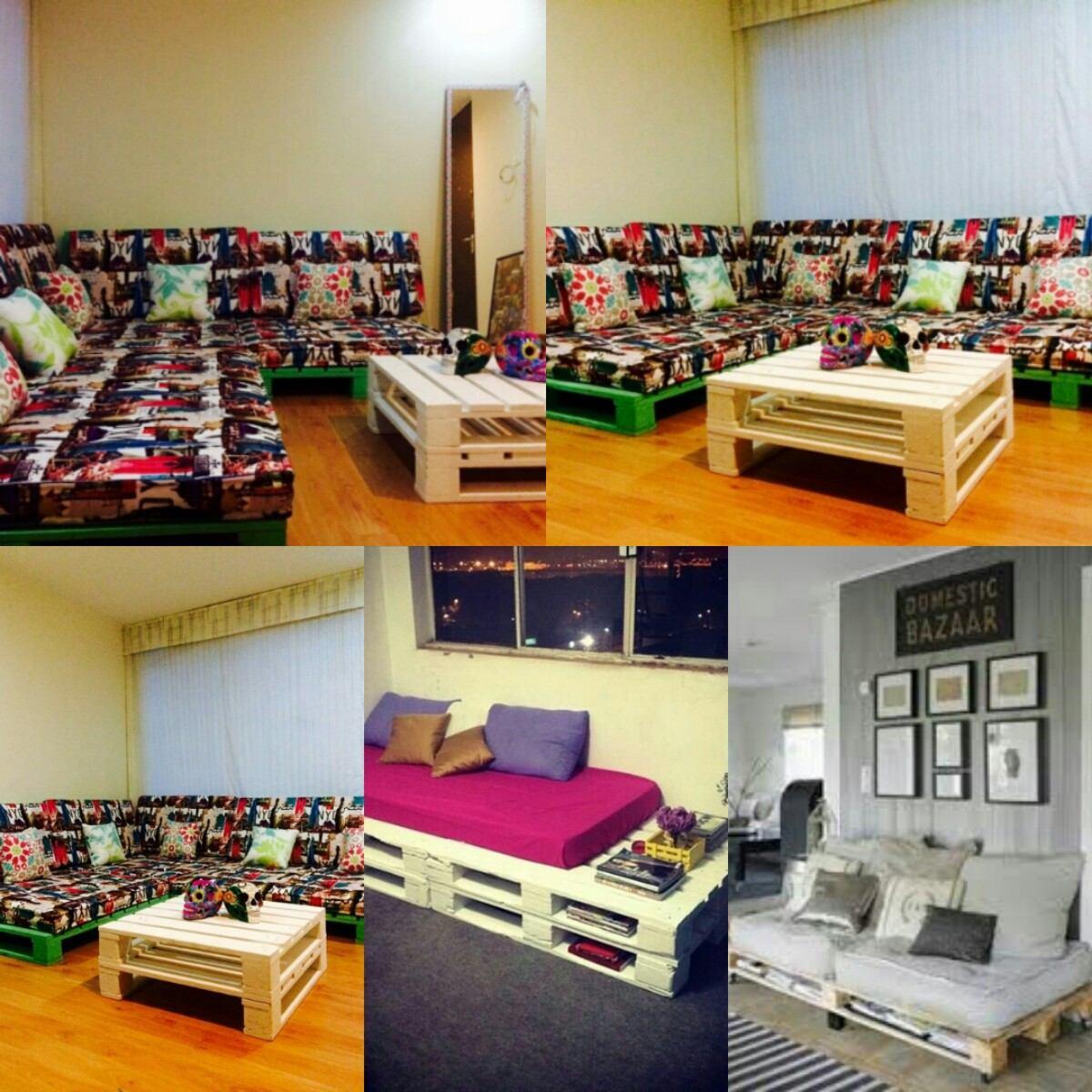 Muebles con estibas r stico o terminados en - Muebles hechos con estibas ...