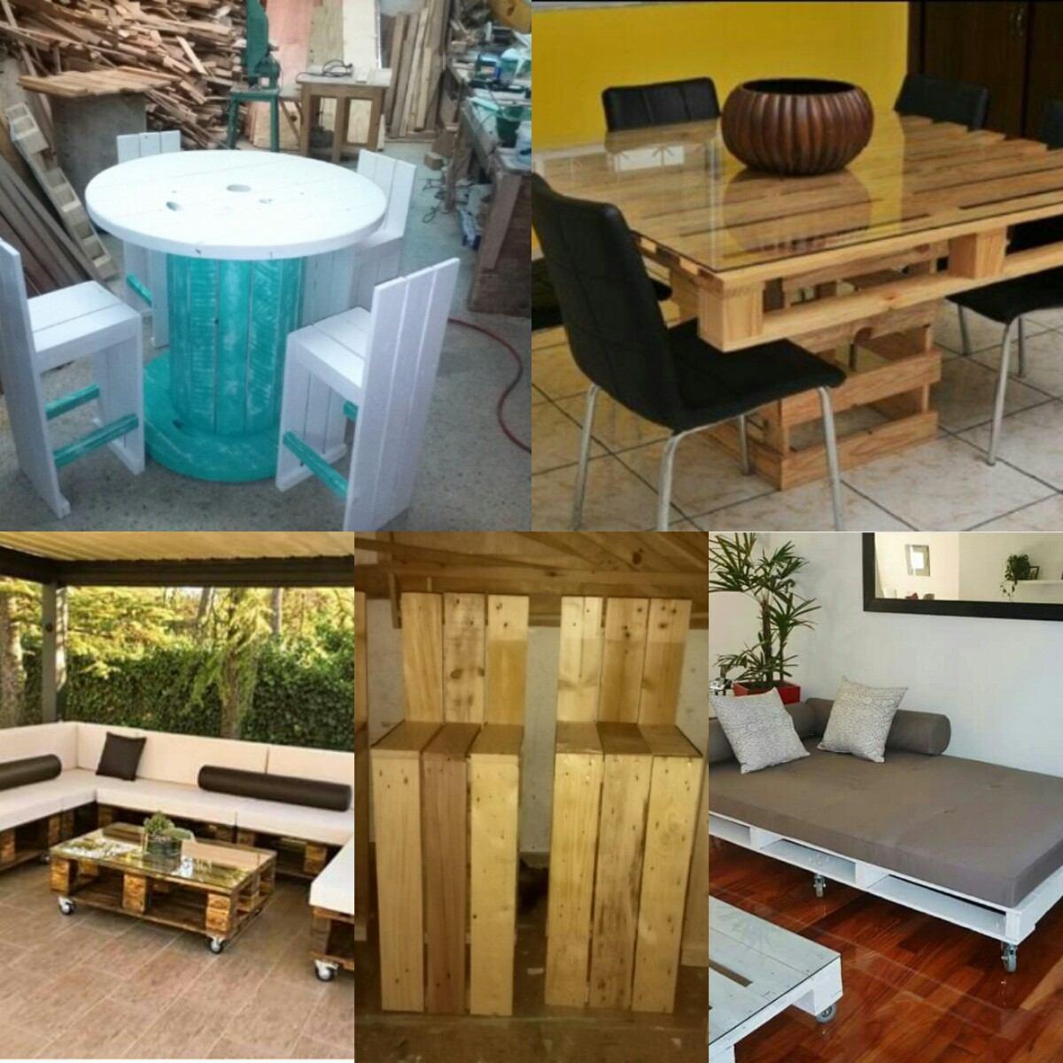 Muebles con estibas r stico o terminados en for Se compran muebles usados