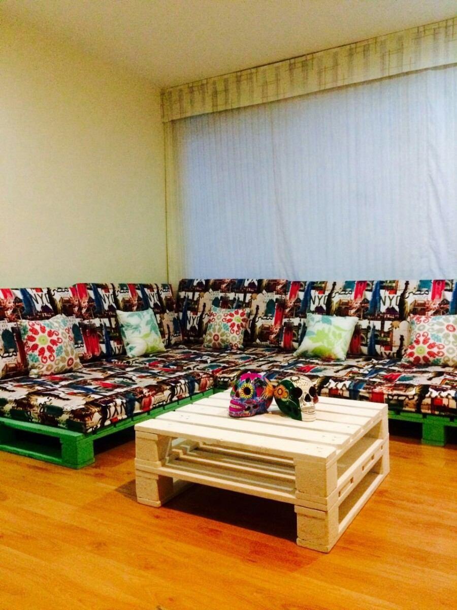 Muebles con estibas r stico o terminados en for Muebles hechos con melamina