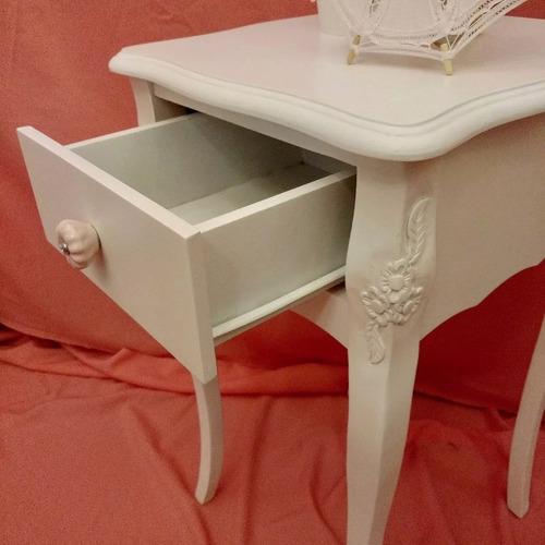 muebles cuartos vintage niños shabby chic mesita luz 1c