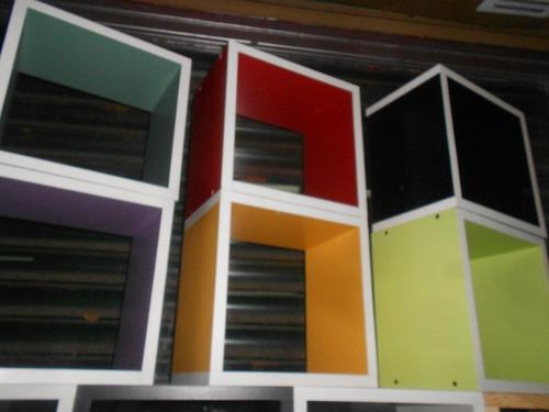 muebles cubos biblioteca