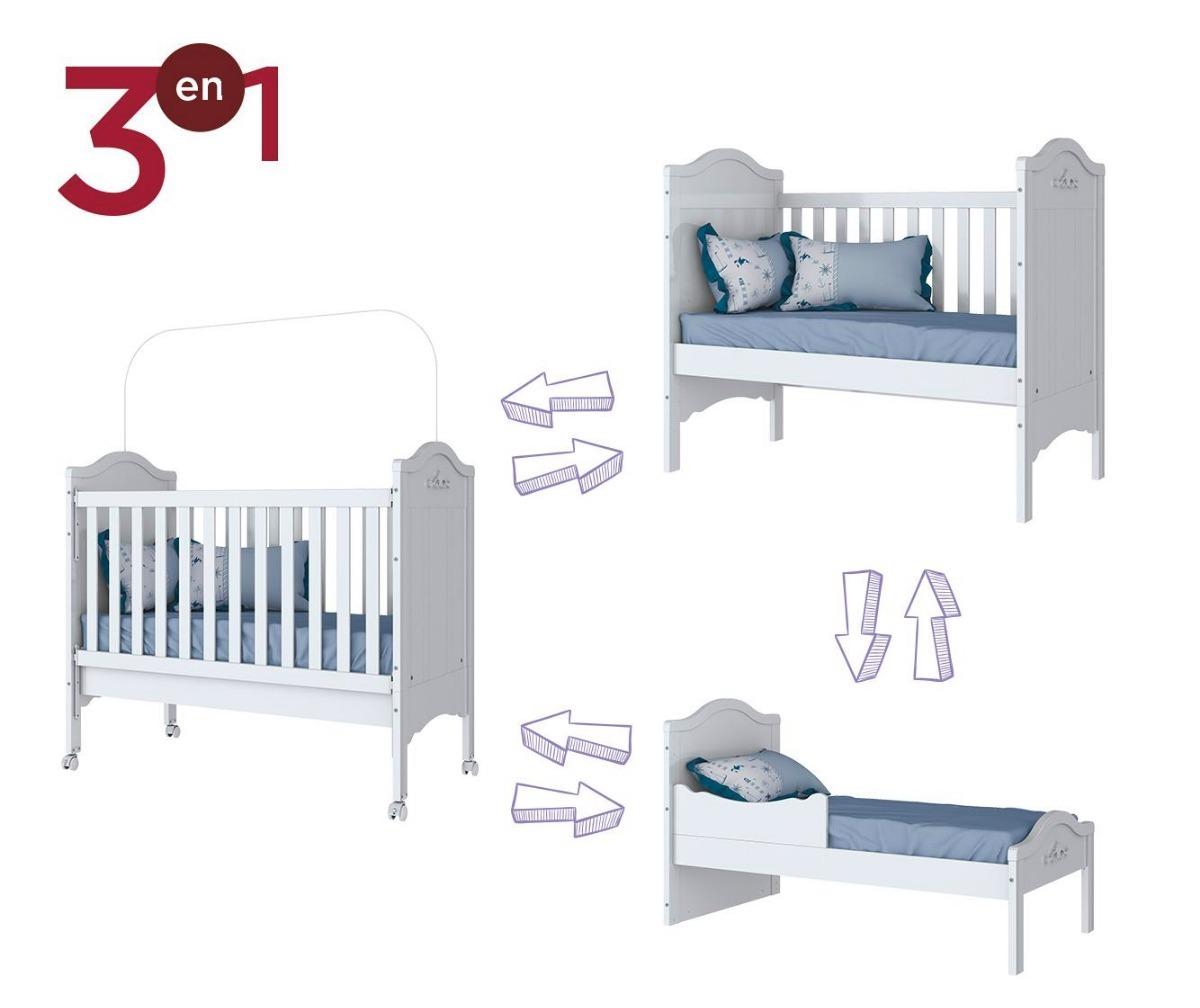Muebles Cuna Multifuncion 3 En 1 Mobesltore - $ 7.390,00 en Mercado ...