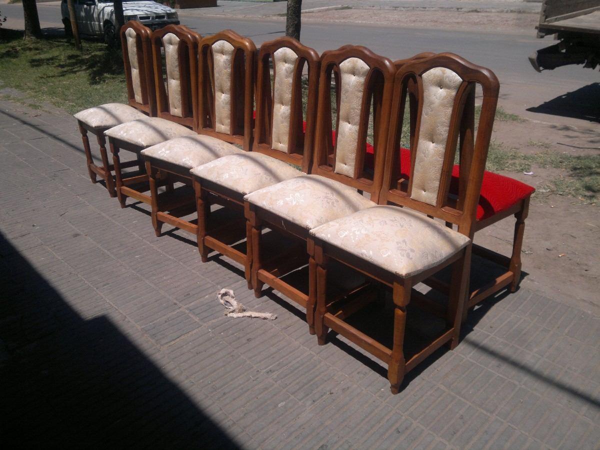 muebles de algarrobo sillas tapizadas