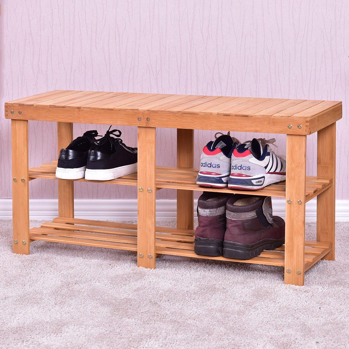 Magnífico Muebles Banco De Zapato Entrada Galería - Muebles Para ...