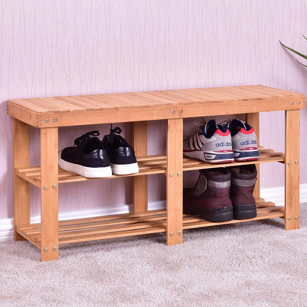 Hermosa Zapatos De Rack Muebles De Banco Inspiración - Muebles Para ...