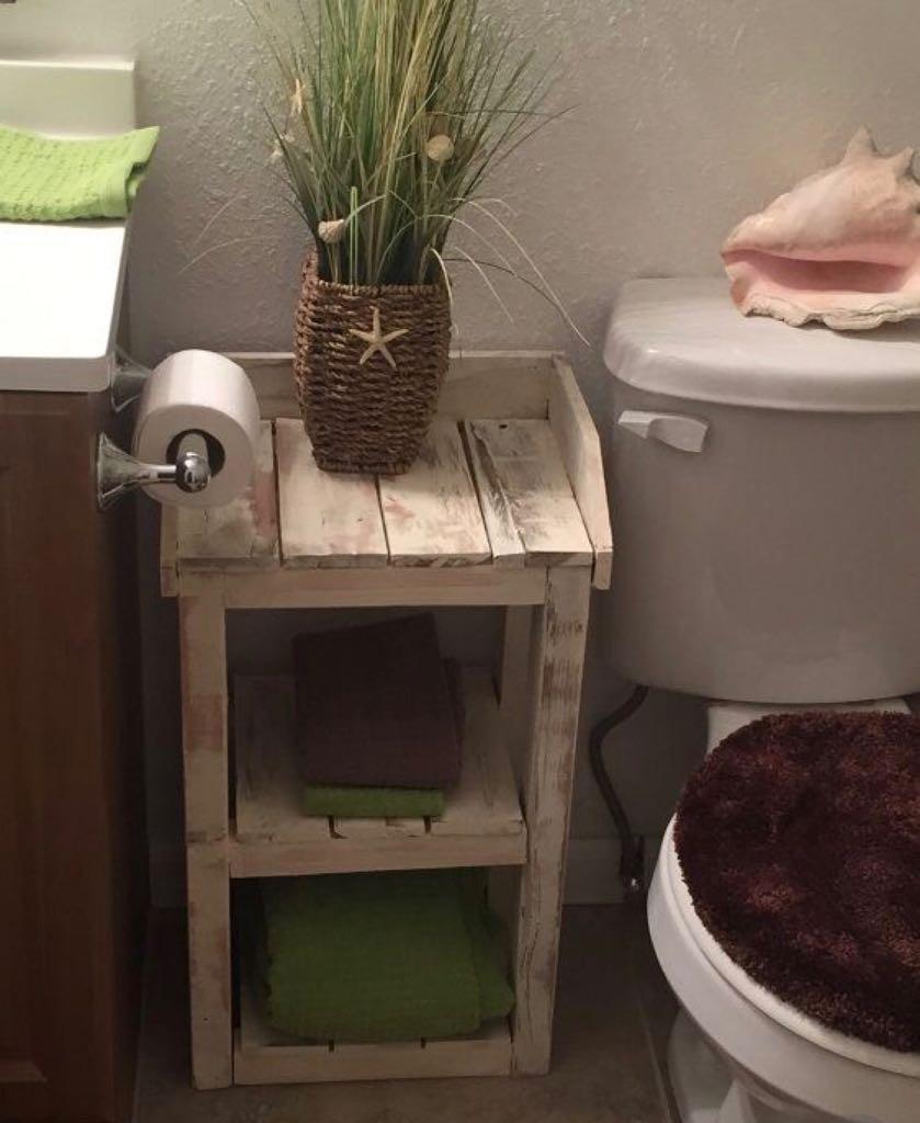 Muebles de ba o r stico madera palet en for Muebles de bano de madera rusticos