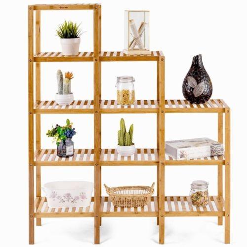 Muebles De Baño Utilidad De Estante De Bambú Multifuncional ... a1466232d928